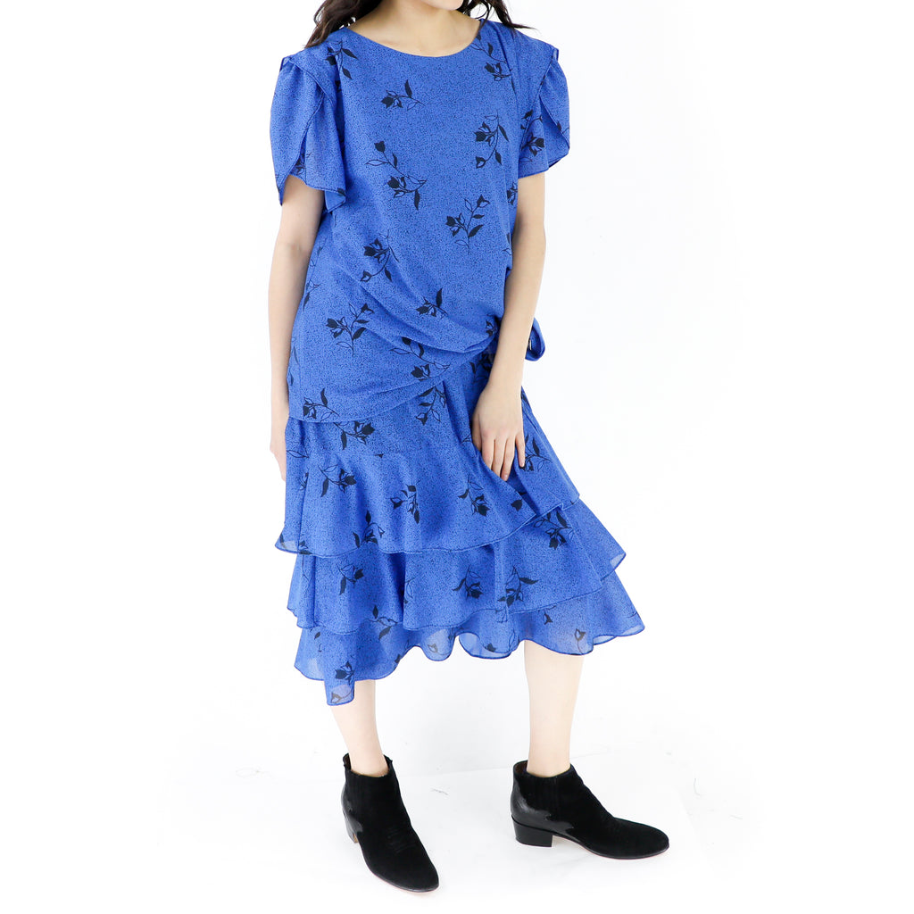 Monochromatic Flowers Violet Dress