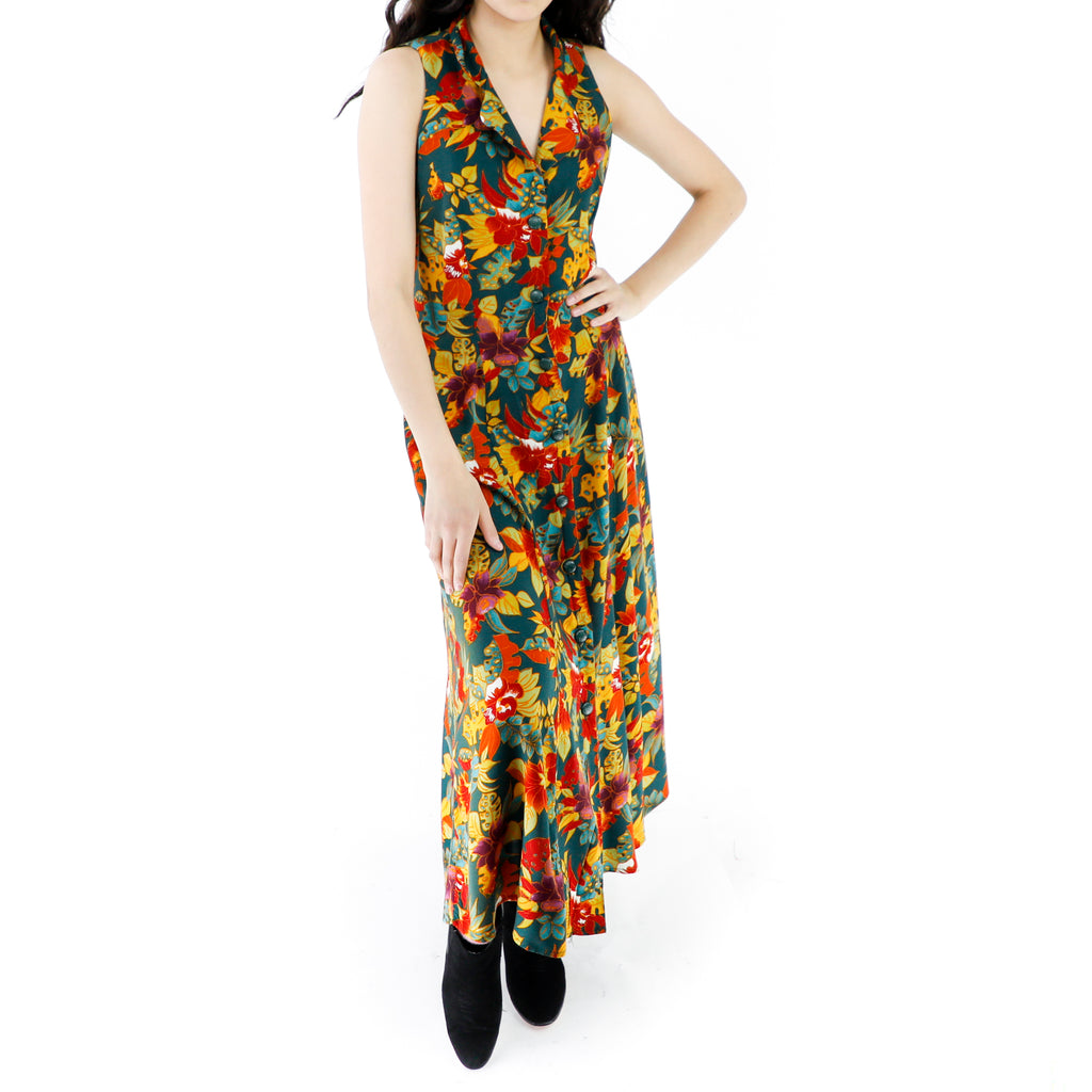 Jungle Shirt Maxi Dress