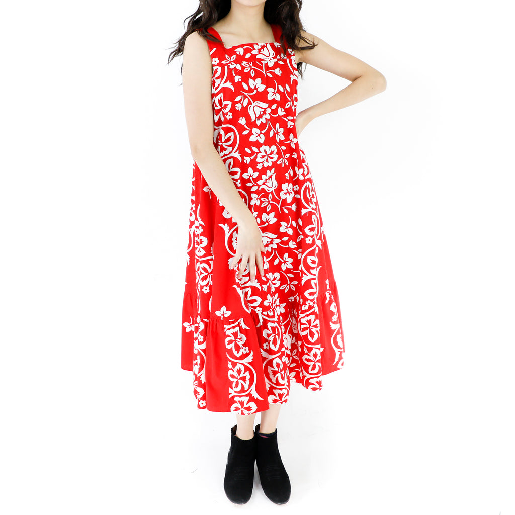 Red & White Tikki Tent Dress