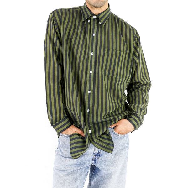 Black & Green Stripes Shirt