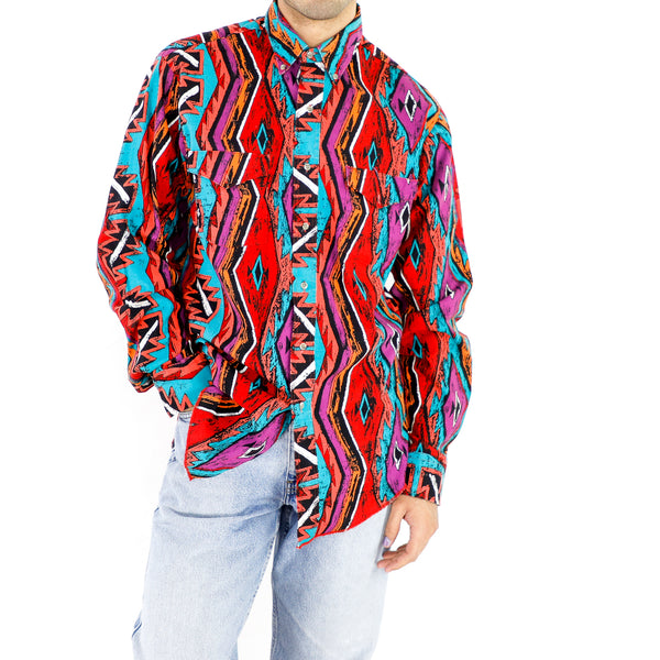 Multicolor Argyle Pattern Shirt