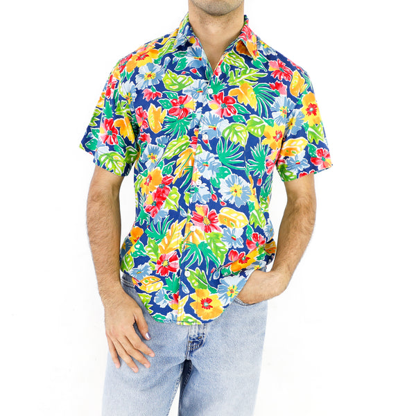 80's Hawaiian Garden Shirt