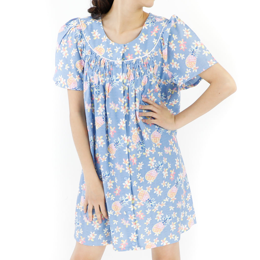 Baby Blue Cotton 60's Dress