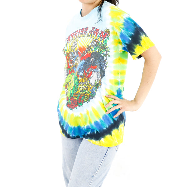 Sunrise Sun Skeleton Tie-Dye T-shirt
