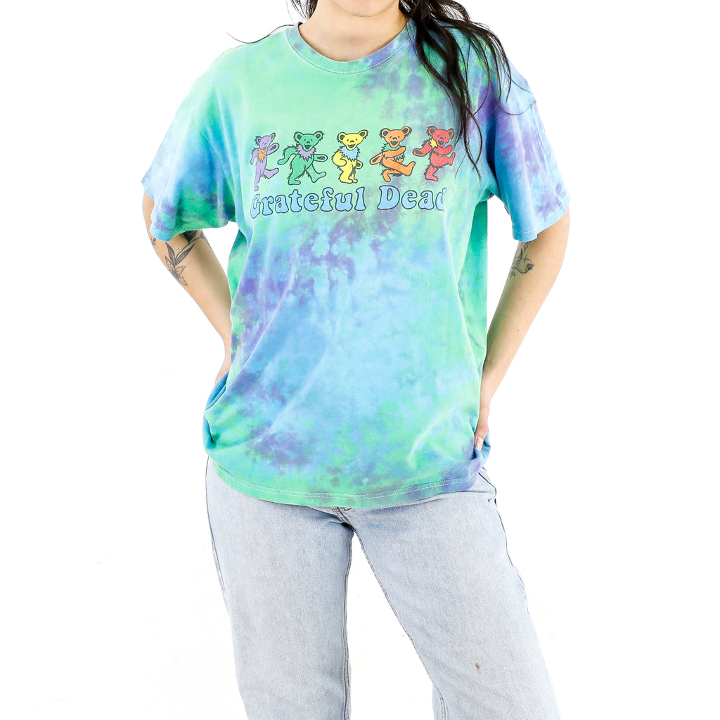 Grateful Dead Green Parade Tie-Dye Vintage T-shirt