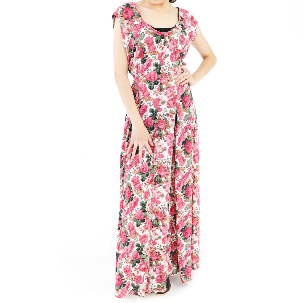 Roses & Roses! Empire White Dress