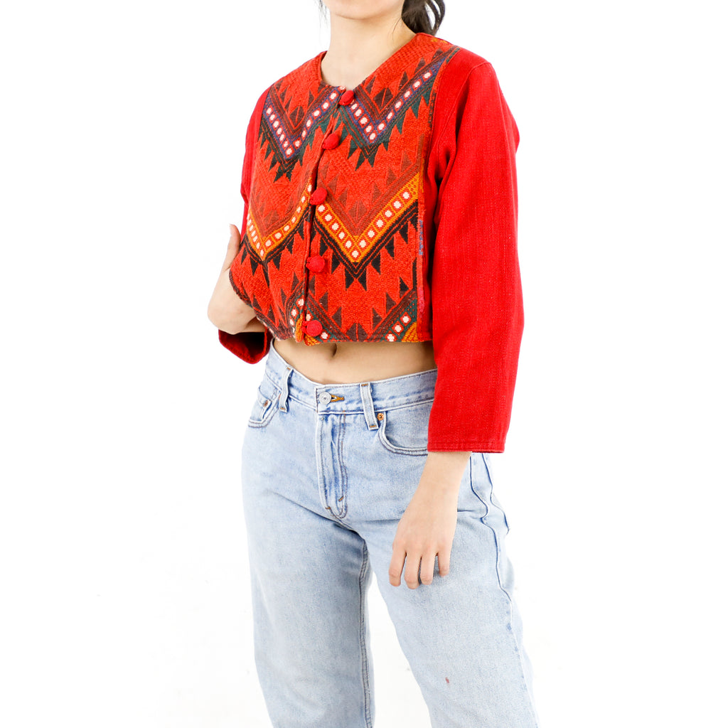 Red Aztec Jacket