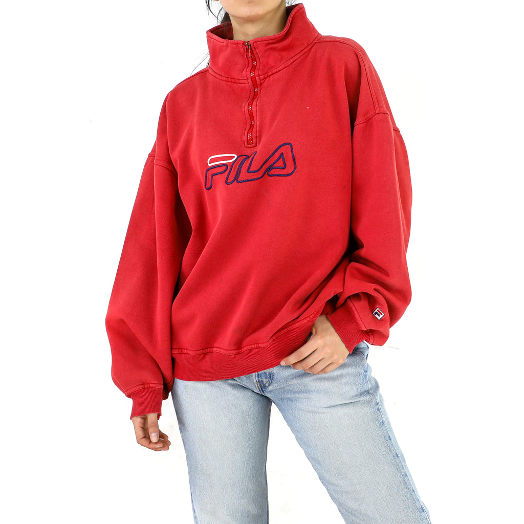 Red Fila Turtle Neck Sweatshirt