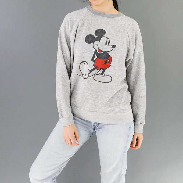 Gray Vintage Mickey Sweatshirt
