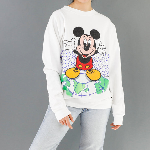 White 92 Mickey World Tour Sweatshirt