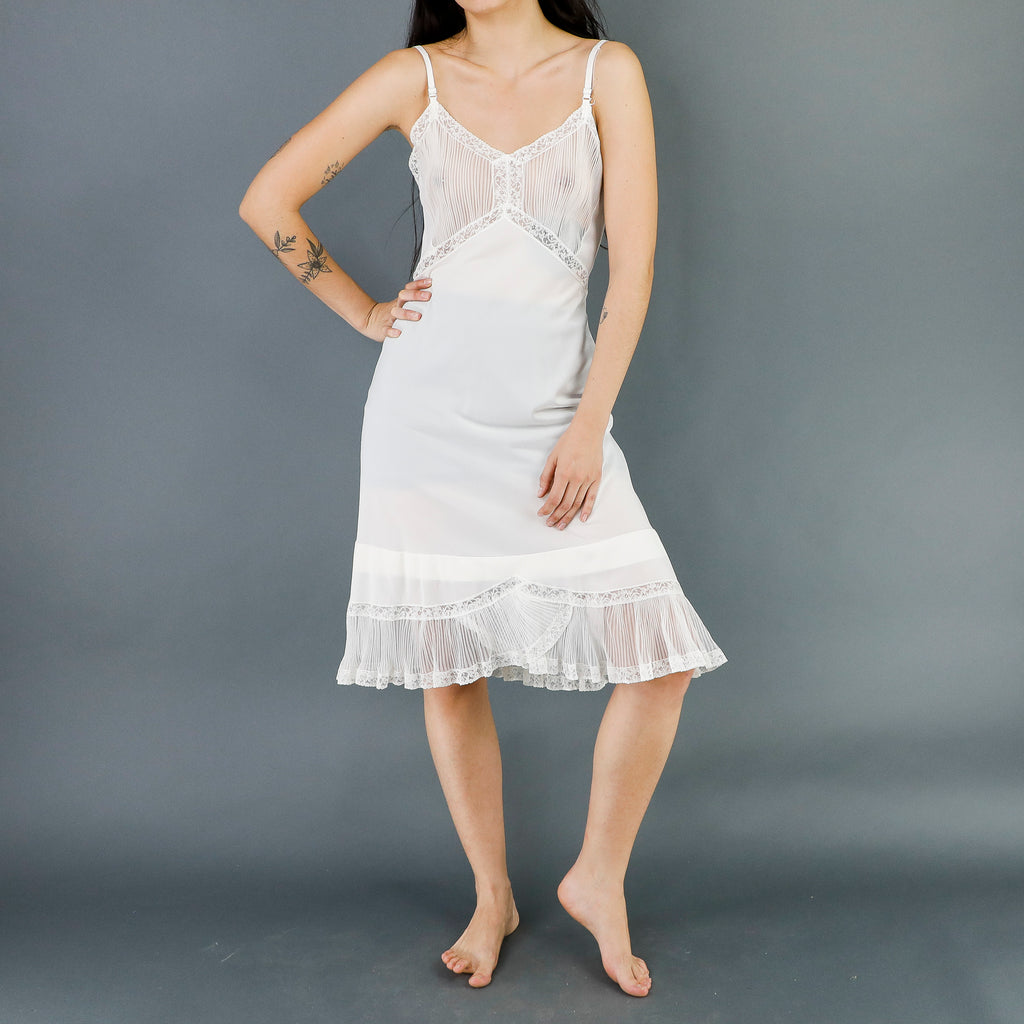 White See Trough Empire Dress