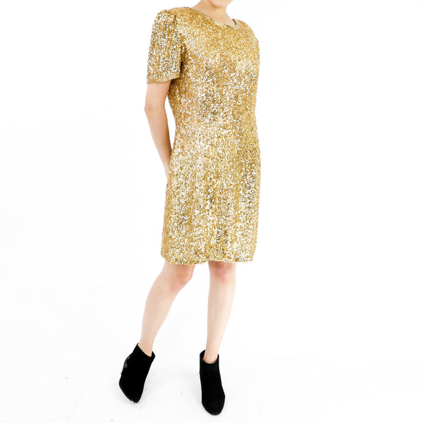Gold Gold Gold Silk Dress