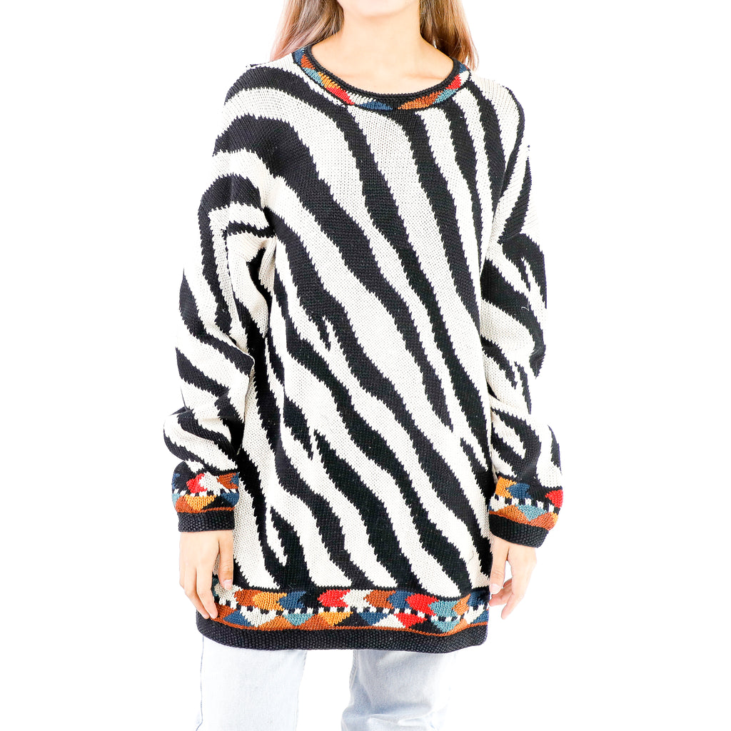 Black & White Zebra Sweater