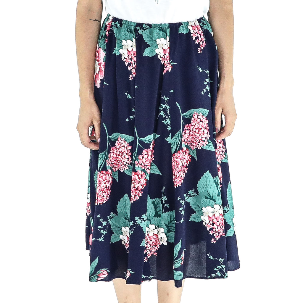 Blue & Flowers Skirt