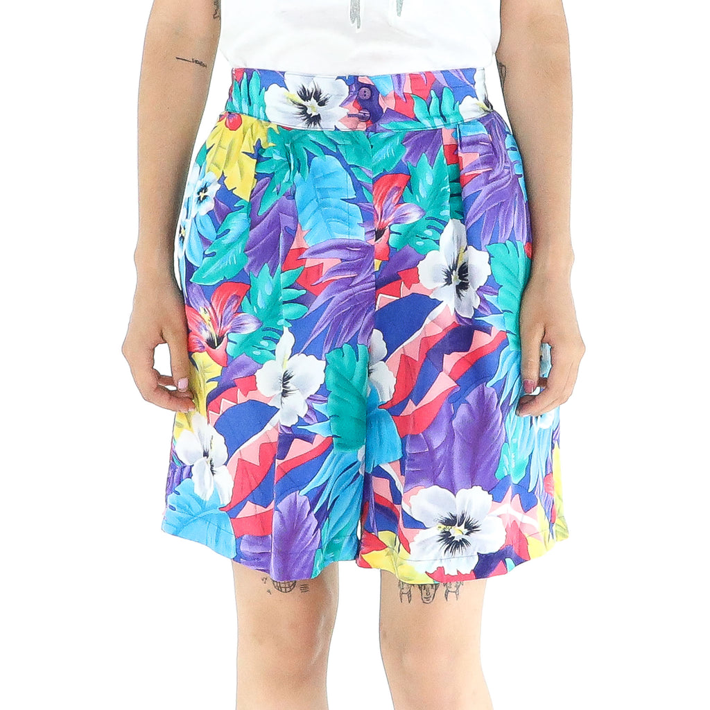 Flowers Silk Short