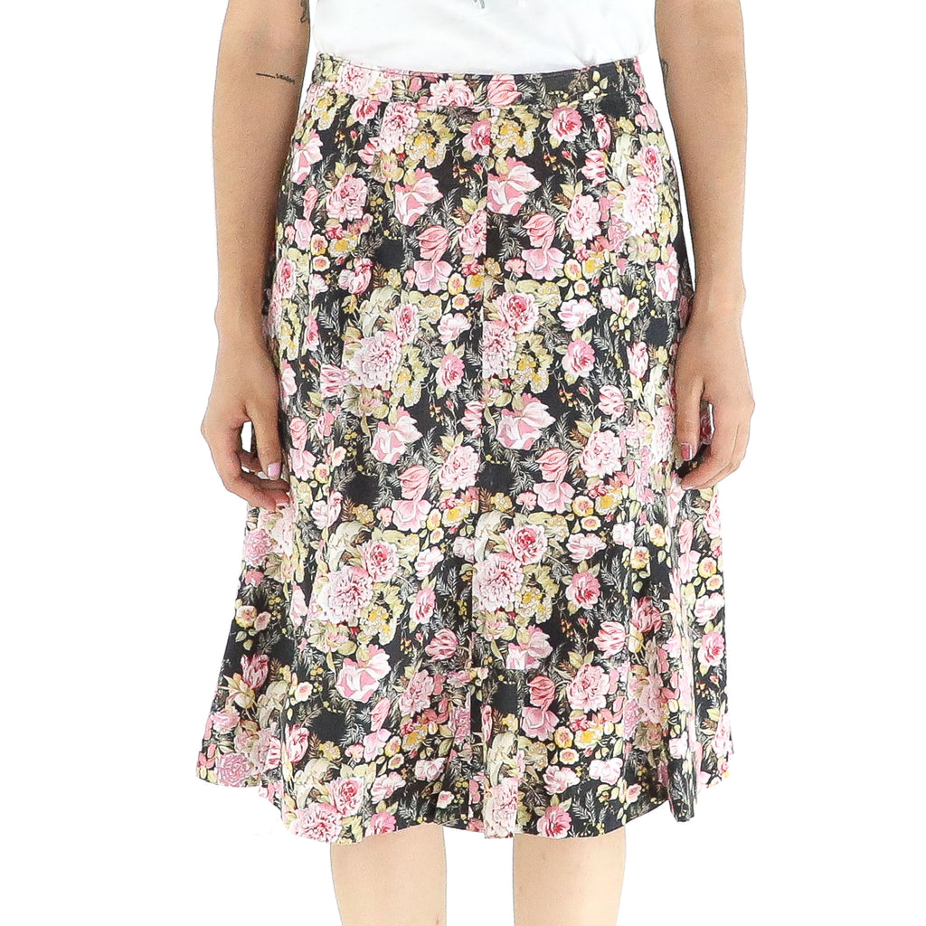 Yellow & Pink Flowers Skirt