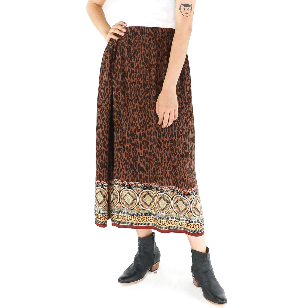 Animal Print & Paisley Skirt