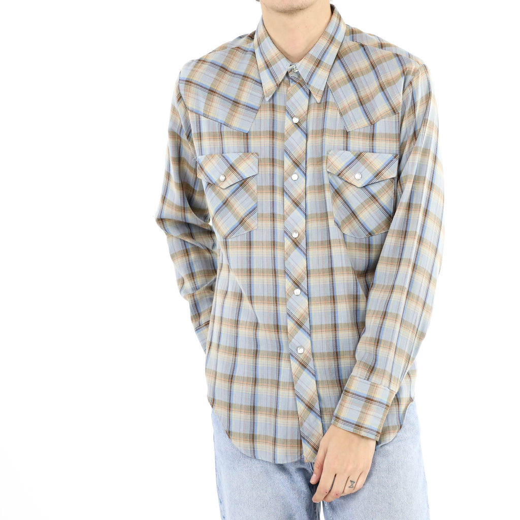 Light Blue Madras Check Shirt