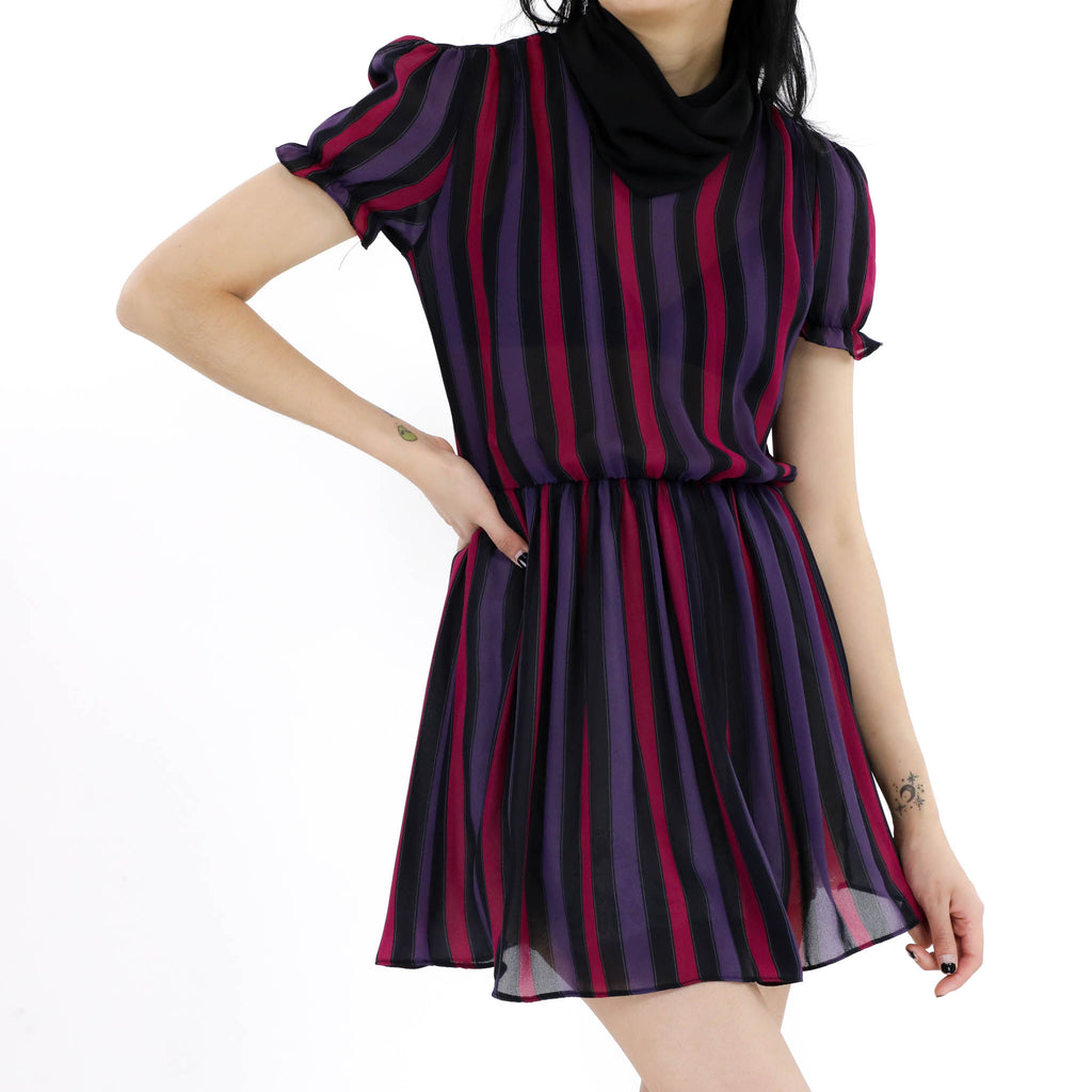 Magenta Striped Dress