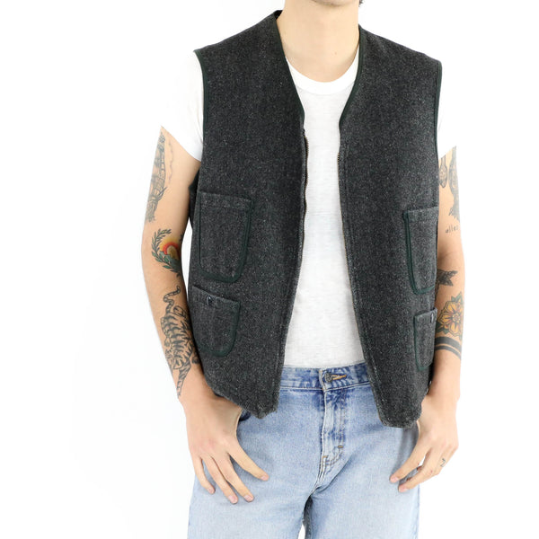 Zip Up Speckled Vest
