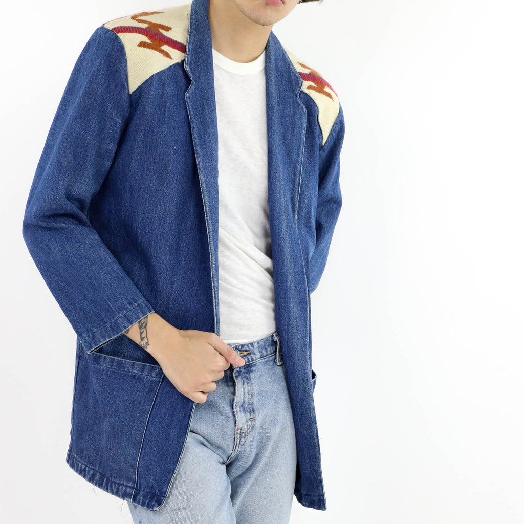 Chimayo Appliqué Denim Blazer