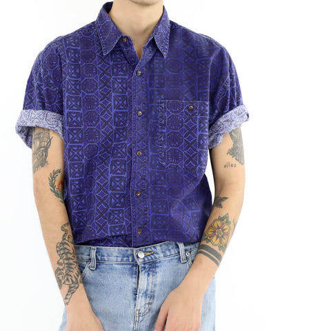 Pacific Block Print Aloha Shirt