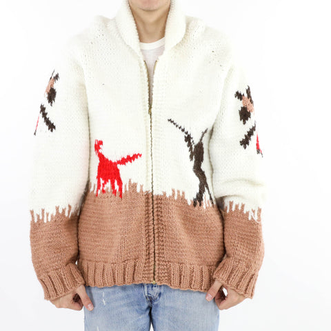 Cowichan Hunter Zip Up Cardigan