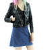 Women's Classic Leather Biker Jacket