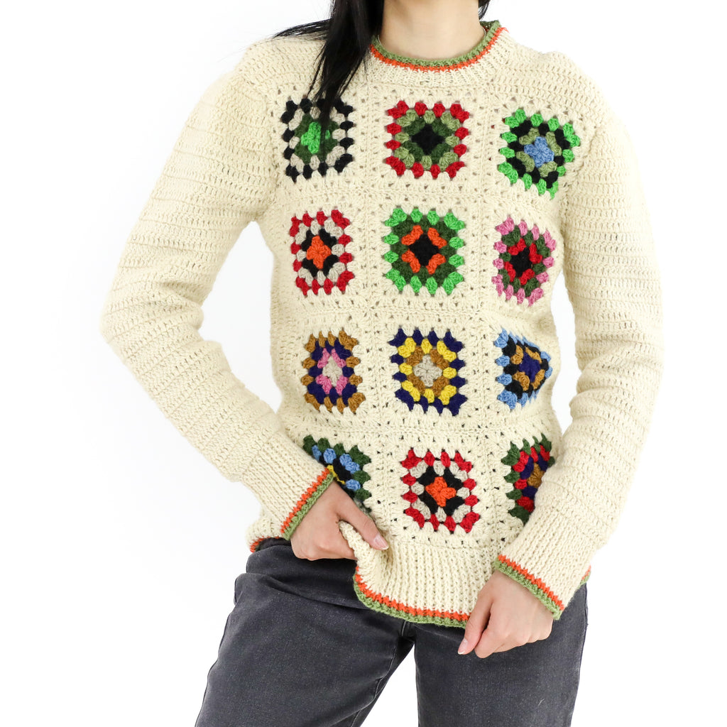 Granny Square Crochet Sweater