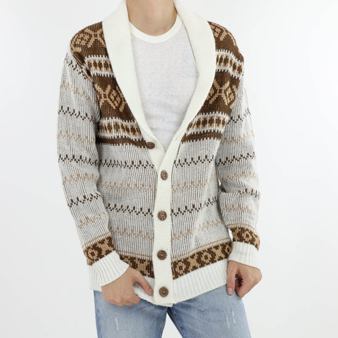 Fair Isle Shawl Collar Cardigan