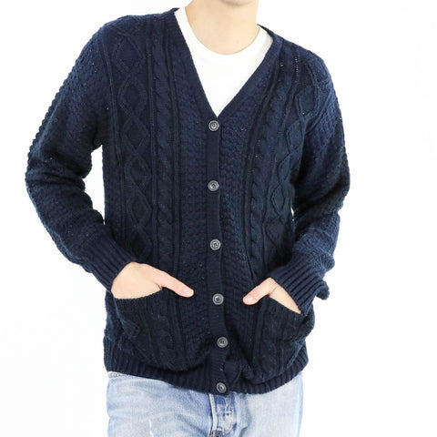 Cable Knit Textured Cardigan