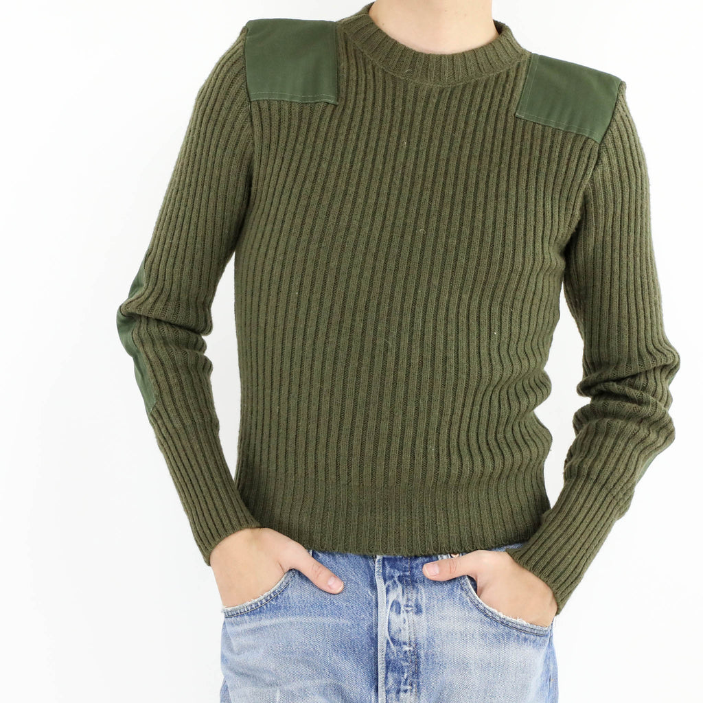 Paneled Rib Sweater