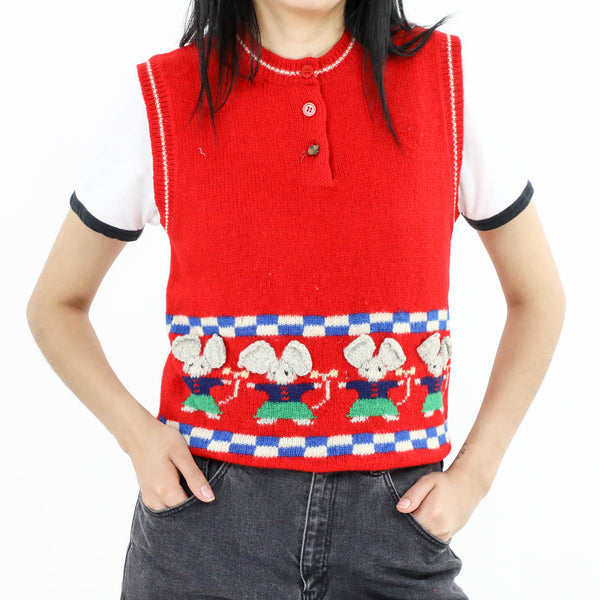 Mouse Knitted Vest