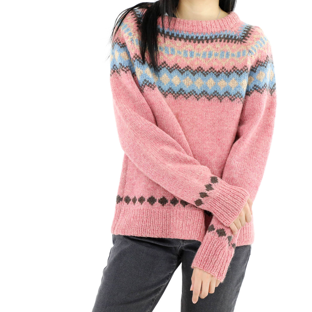 Pink Sweater With Details Blue
