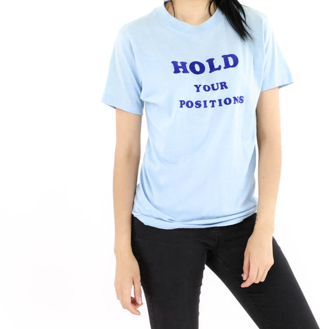 Hold Your Positions Flocked T-Shirt