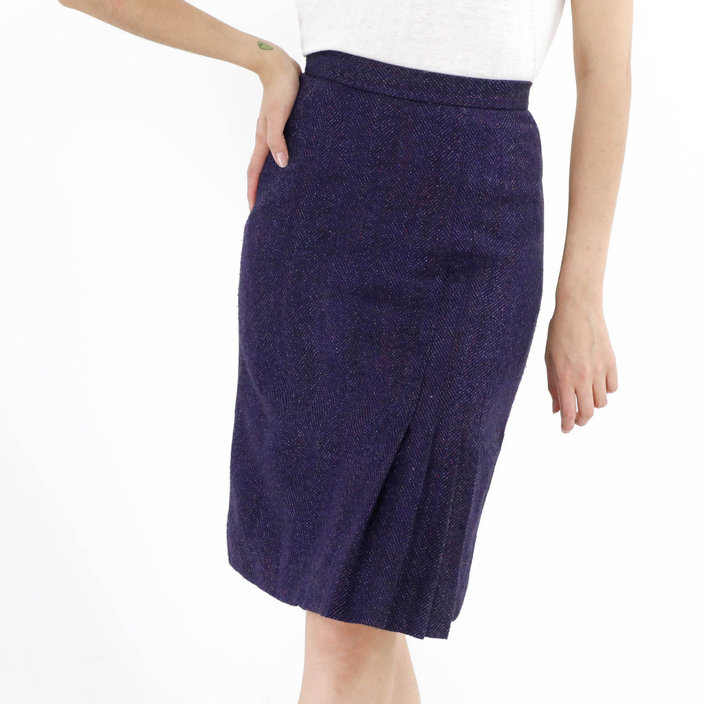 Knife Pleat Pencil Skirt