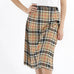 Tan & Black Plaid Skirt