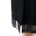 Fringe Trimmed Slit Skirt