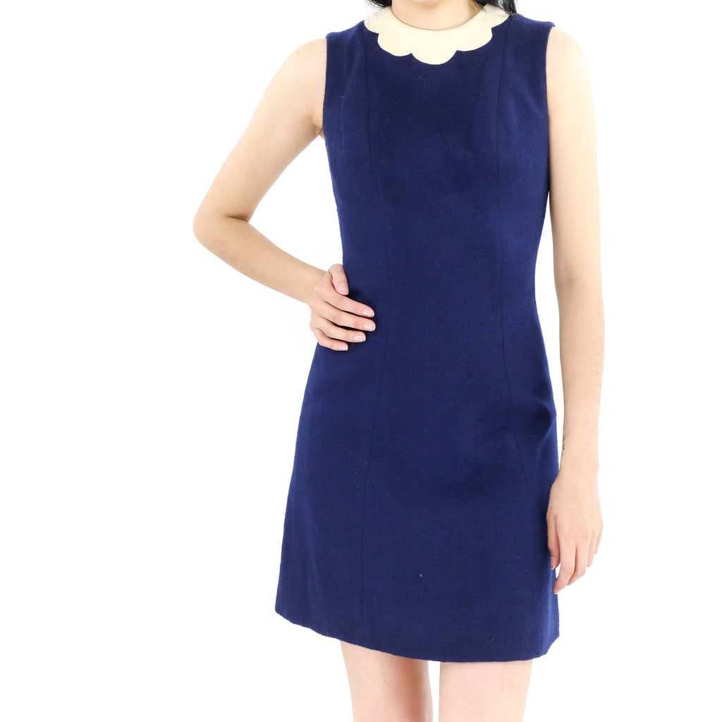 Scallop Neck Sheath Dress