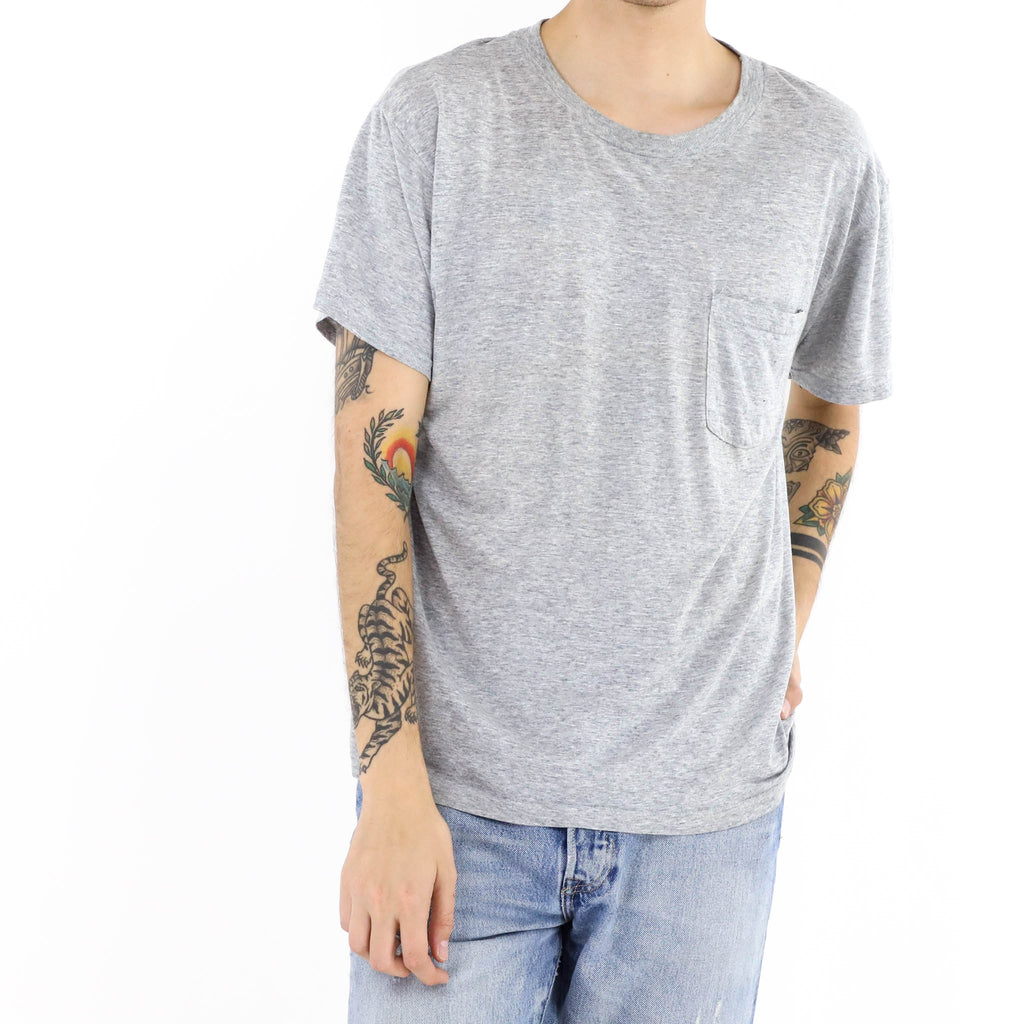 Soft Heather Pocket Vintage Tshirt