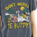 "Novelty ""Don't Worry Be Happy"" Cut Off Sweatshirt"