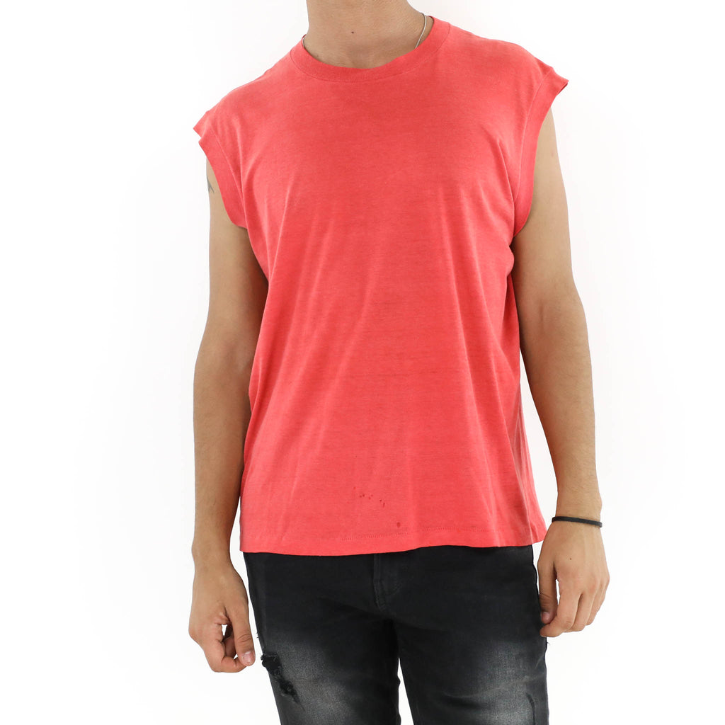Plain Red Muscle Tee