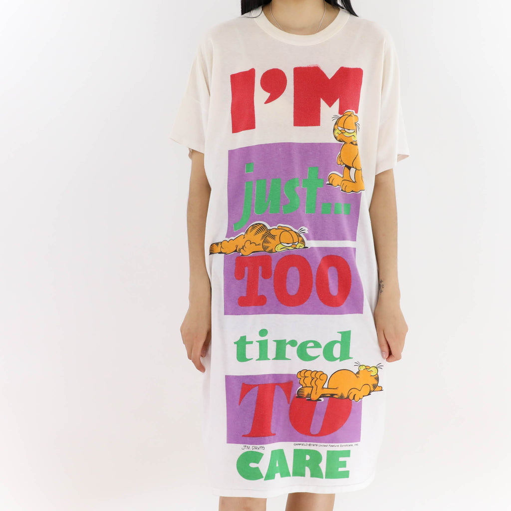Too Tired To Care Long Tshirt