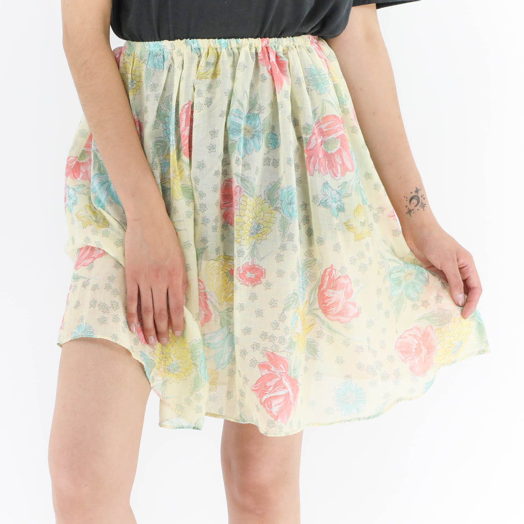 Yellow Floral Skirt