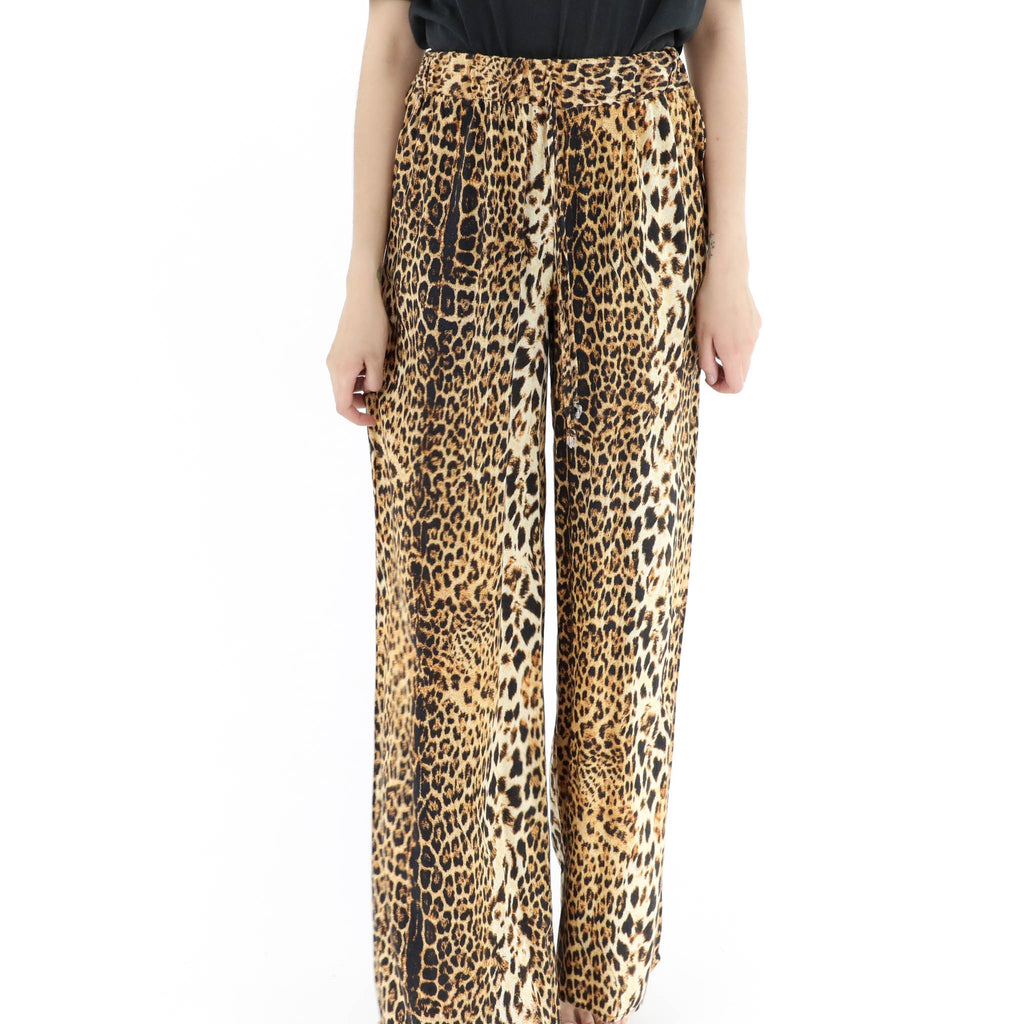 Animal Print Loose Pants
