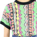 90's Multicolored Print Tshirt