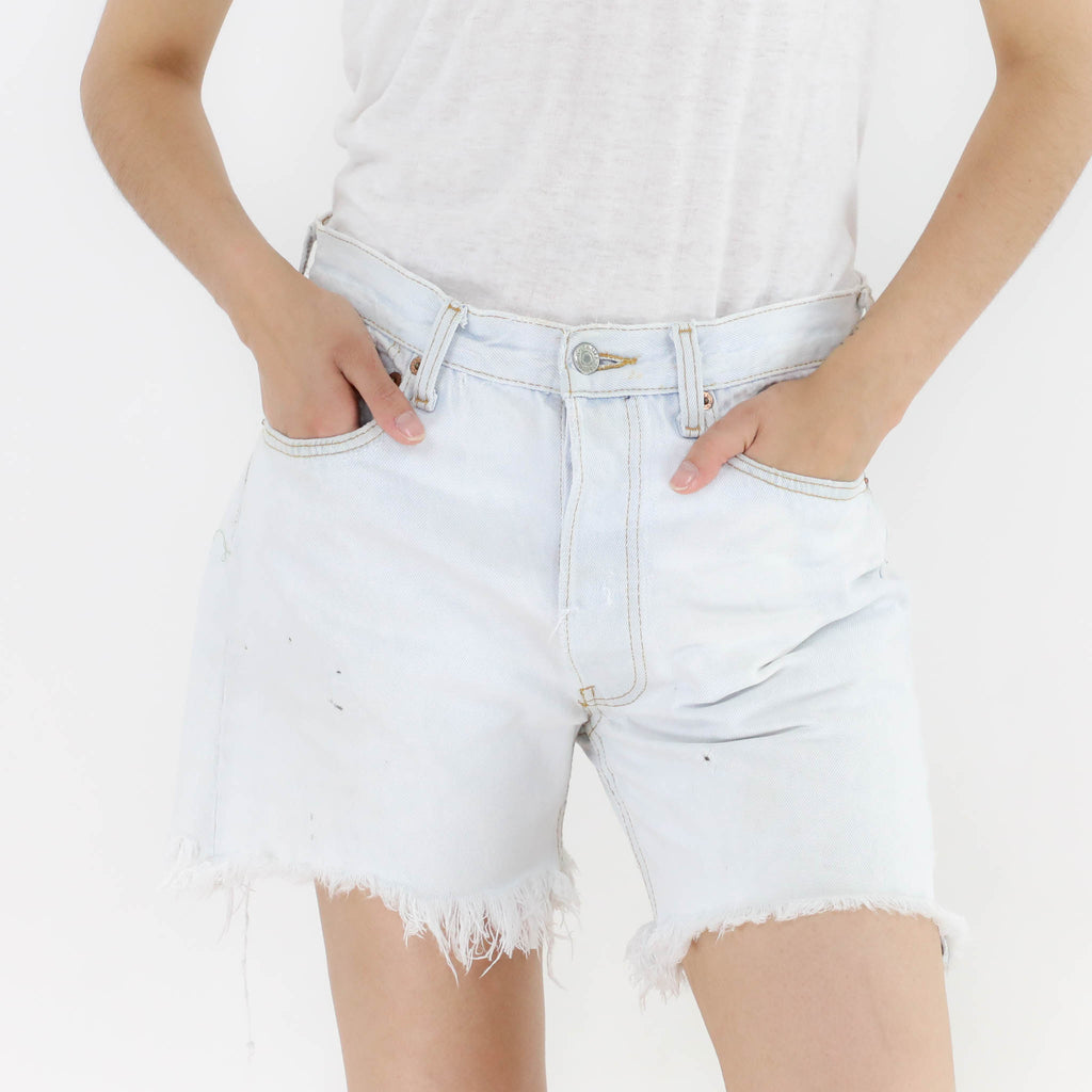 Light Cutoff Denim Shorts
