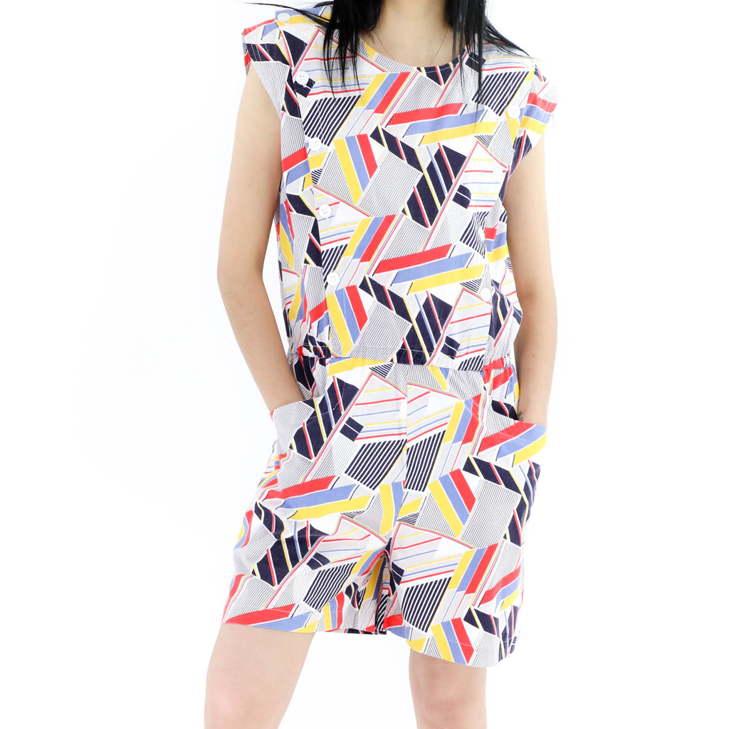 80's Multicolored Romper