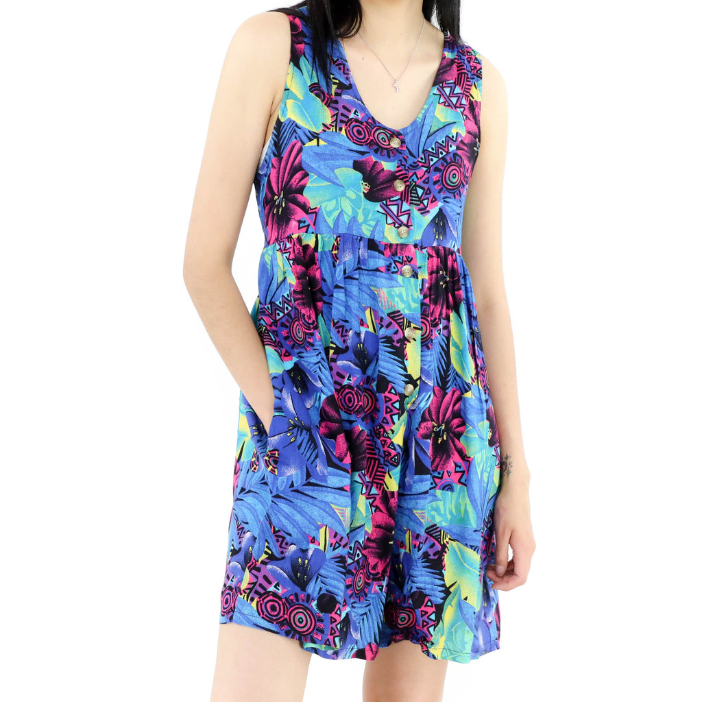 Tropical Neon Dress