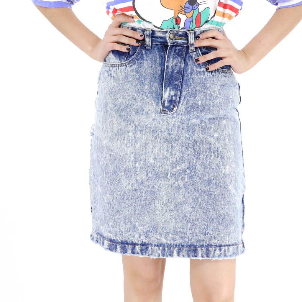 Acid Wash Skirt